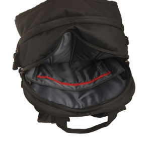 Schwarzer Rucksack des Laptop-2016 mit Form-Entwurf