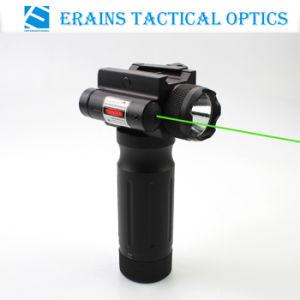 Tactical Foregrip 750 lúmenes LED linterna con láser verde