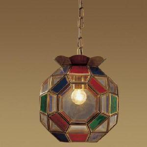 Handgemachte Glashängende Messinglampe (1202-2)