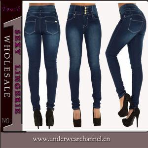 2016 Venta caliente mujer de algodón Spandex skinny jeans de moda (TXXL232)