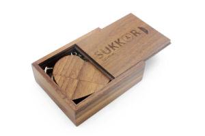 Venta caliente Eco-Wooden Personalizar una unidad flash USB Pen drives de chips de madera de 4GB Pendrive 8GB 16GB 32 GB de Memoria Stick U disco con llavero de regalo
