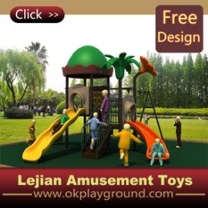 Sain et heureux en plastique extérieure terrain de jeux pour enfants (12046A)