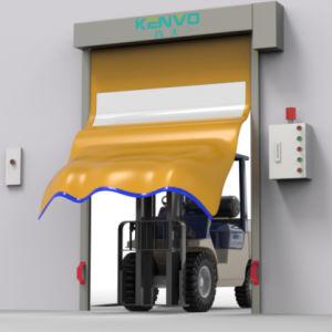 산업용 자동 지퍼 자가 수리 PVC 직물 고속 성능 고속 작동 고속 상승 오버헤드 롤 업 또는 창고용 롤러 셔터 도어