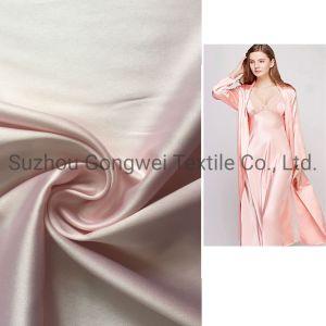 Tecido de poliéster acetinado Stretch Senhoras pijamas