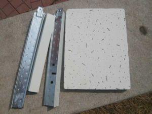 Panel de techo de fibra mineral con techo T cuadrícula