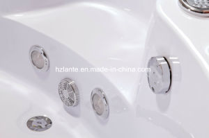 Bañera de hidromasaje de diseño moderno con vidrio (TLP-638)