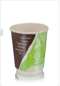 Двойные стенки короткого замыкания одноразовые горячего кофе чашки бумаги
