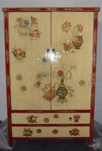 Reproducción chino antiguo armario pintado a mano Lwa421