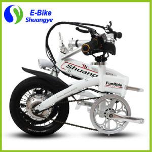 Mejor venta 36V batería de litio 14 pulgadas pequeña rueda mini plegable Bicicleta eléctrica