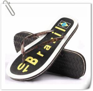 Les hommes d'usine chinoise pantoufles des sandales en caoutchouc Flip Flops personnalisé