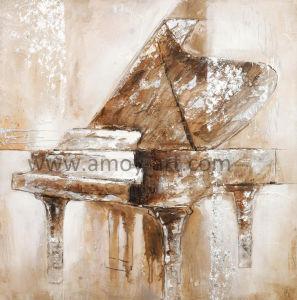 Piano impressionante artesanais pinturas a óleo de arte na parede de lona para decoração