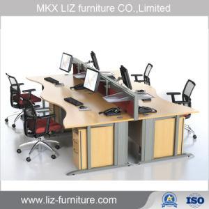 Estación de trabajo de oficina de forma lineal con un alto divisor de la partición de Am041