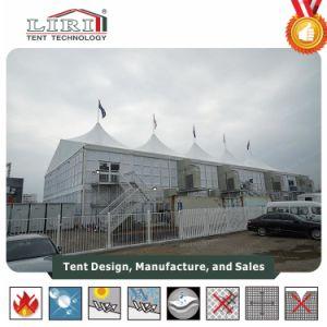 20m X 50m haute crête Double Decker tentes avec ABS paroi dure pour les VIP salon de luxe