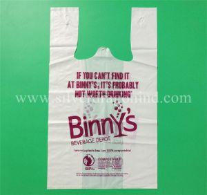 100% biodegradierbare kompostierbare Einkaufstasche, Shirt-Beutel, umweltfreundlich