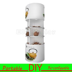 Personnalisé stand modulaire en aluminium Portable bricolage stand d'exposition d'affichage Etagères