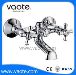 二重ハンドルの浴室のミキサーの壁に取り付けられた浴槽の蛇口(VT 61001)