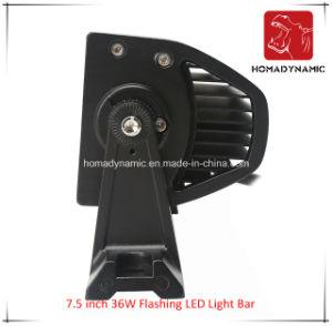 Het LEIDENE Licht van de Auto van 7.5 Duim 36W die Waterdichte LEIDENE Lichte Staaf voor leiden SUV opvlamt van het Licht van de Weg en LEIDEN DrijfLicht
