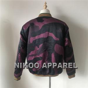 폭격기 재킷 높은 쪽으로 질에 의하여 승화되는 Camo 겨울 재킷 지퍼