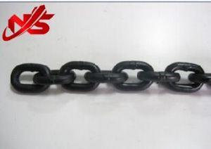 G80 el levantamiento de la cadena de ancla acabado negro