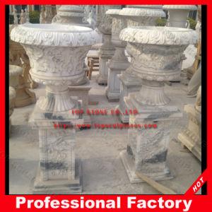 Старинные гранитные мраморные скульптуры Карвинг/сад Карвинг/Flowerpot для сада