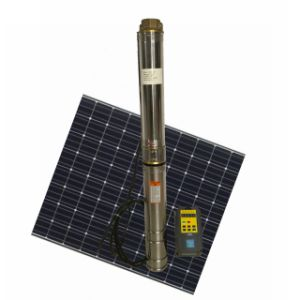 Pompa autoalimentata solare solare dell'acqua di pozzo profondo della pompa ad acqua di CC 48V 150W 100% con il regolatore
