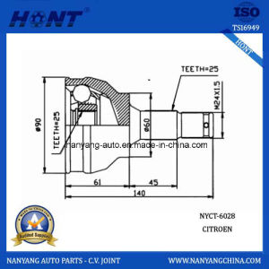 Citroen системы рулевого управления автомобиля С. В. совместных 25-25-60 (NYCT-6028)