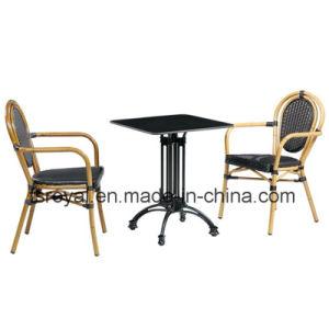 Tabella pranzante della mobilia domestica che pranza l'insieme esterno della mobilia della mobilia di vimini della resina del giardino della presidenza