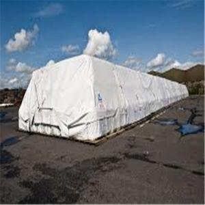 白く柔らかい防水シート防水ファブリックシートのプラスチックシートに屋根を付ける寝台の家のカバー