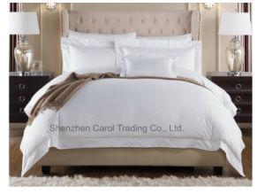 贅沢で明白で白い綿繻子のホテルの供給の寝具