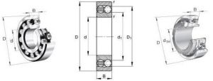 Rolete Auto-alinhante/Rolamento de Esferas Auto-alinhante fabrico profissional
