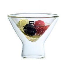 200ml Set de 2 aislados Double-Wall jarra de zumo de vidrio de borosilicato