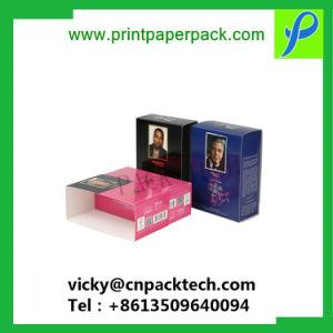 Contenitore di regalo cosmetico piegante stampato colore su ordinazione del documento del profumo del mestiere del commestibile, scatola di presentazione impaccante dell'olio essenziale, contenitore di imballaggio di immagazzinamento in la bottiglia di vino della sigaretta