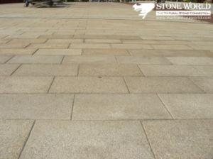 Pavimento De Granito Amarillo Baratos Natural Para El Exterior De Piedra De  Pavimentación