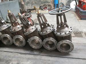 Operado eléctrica tipo extremo de la brida Válvula de compuerta de hierro dúctil