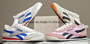 Deportes de la ejecución de cuero de moda casual zapatillas Zapatos para hombres y mujeres (899)