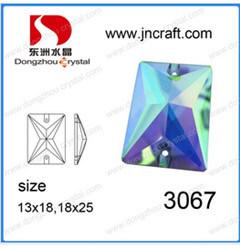 De vlak AchterRechthoek van het Kristal naait op Parels (DZ-3067)