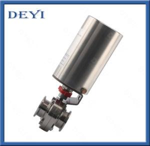 Dn40ステンレス鋼の衛生空気の蝶弁