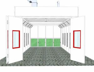 Enden-Entwurfs-Auto-Spritzlackierverfahren-Raum glühen Stand