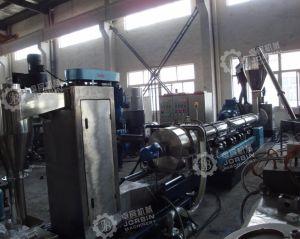 HDPE Flocken machen Flaschen-Milchflasche-einzelne Schrauben-Strangpresßling-Pelletisierung-Maschine ein