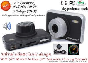Gedankenstrich-Nocken des Auto-2.7inch mit GPS, der Weg-Auto-Gedankenstrich-Kamera durch Play-back Googlemap, GPS-Logger-Auto-Digital-Videogerät DVR-2709 aufspürt
