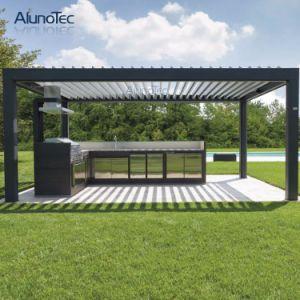 sistema do telhado das cortinas da grelha do obturador do jardim de sunproof da decora o. Black Bedroom Furniture Sets. Home Design Ideas