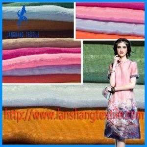 Tela de lino tejida viscosa de mezcla de Tencel del rayón para la falda de la alineada
