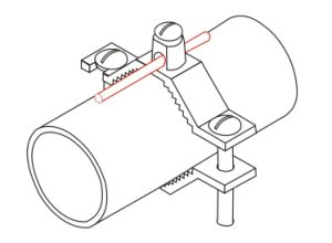 Morsetti di tubo per acqua o i tubi di gas flessibili