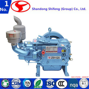 4 치기 단 하나 실린더 해병 또는 선반 또는 농업 또는 발전기 또는 농업 또는 펌프 또는 갱내수 냉각된 디젤 엔진
