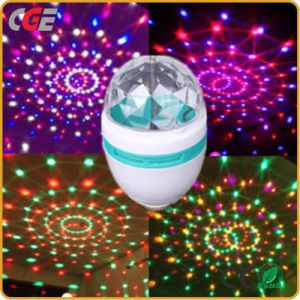 Lâmpada LED LED coloridos grossista girando a lâmpada LED RGB de 3W Crystal Magic Ball discoteca de luz LED de luz