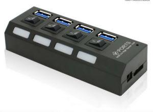 Alimentation directe en usine haute vitesse 4 ports hub USB 3.0 Câble avec sur /off Port Alimentation externe