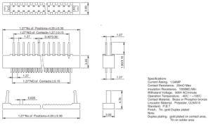 pH1.27mm Flugleitanlage-KontaktPin