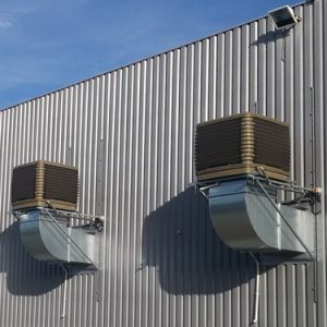 380 В 2 скоростей 22000CMH воздушного потока в стену прохладный воздух с автоматической очистки