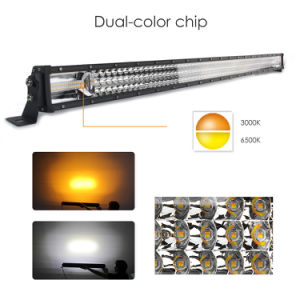 Nieuwste Dual Color Strobe 22inch 32inch 42inch 52inch Cruved LED Light Bar