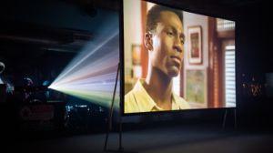 250 pouces à 4 : 3, poids d'éclairage extérieur pliable portable Projection avant/arrière écran de cinéma